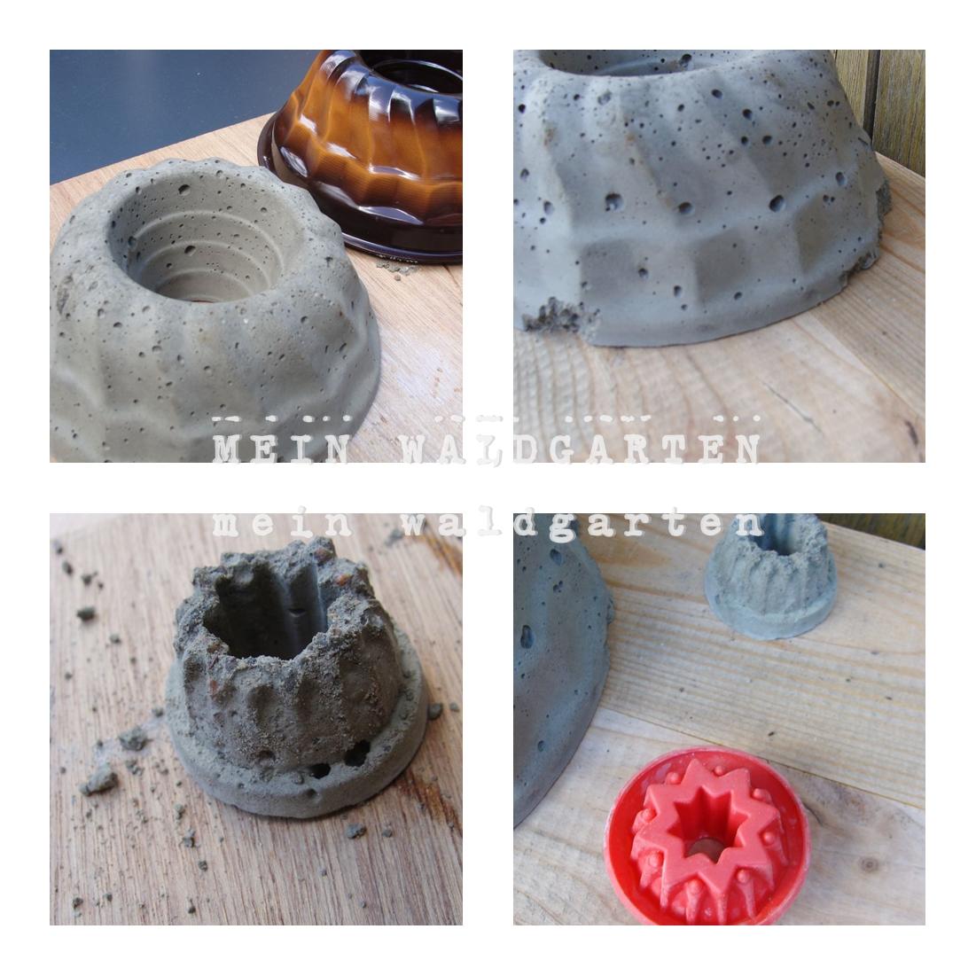 mein waldgarten diy so entstanden meine betonkuchen f r den garten. Black Bedroom Furniture Sets. Home Design Ideas