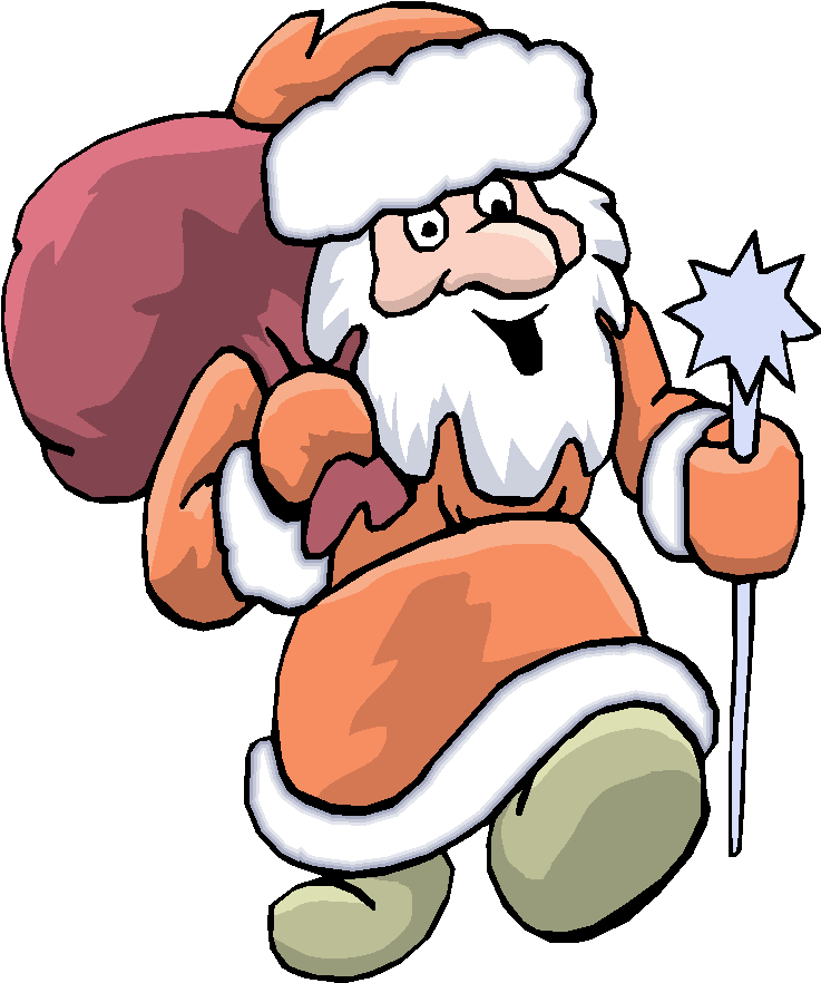 Walking Santa Clause Free Clipart