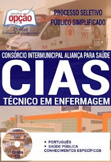 Apostila Consórcio Aliança Cias MG 2016, Técnico em Enfermagem