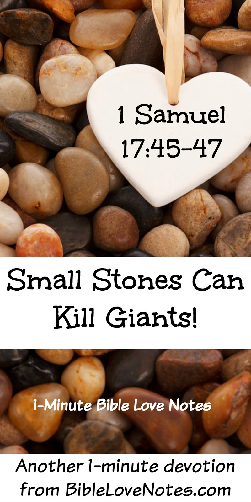 1 Samuel 17:45-47, David slew Goliath, 5 small stones and sling shot