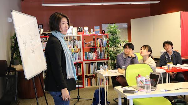 Women's Startup Lab創辦人Ari Horie與創業者交流