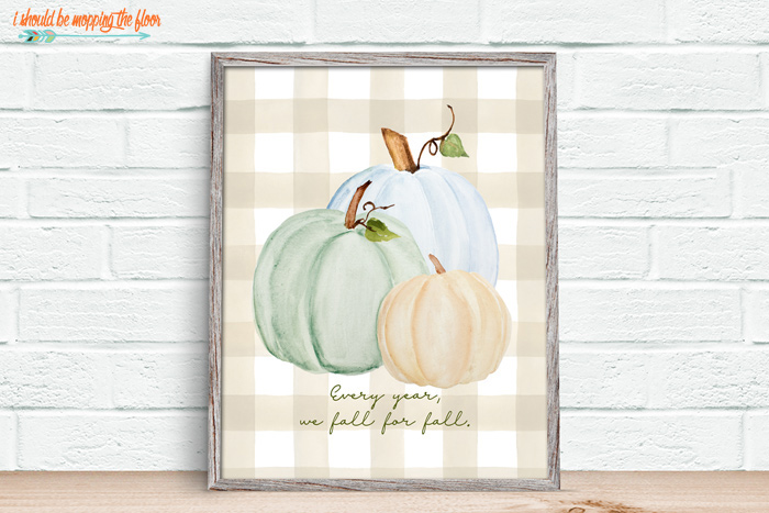 Farmhouse Pumpkin Printables