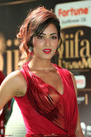 Videesha in Spicy Floor Length Red Sleeveless Gown at IIFA Utsavam Awards 2017  Day 2  Exclusive 07.JPG