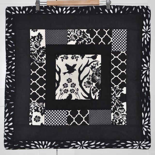 black white pillow