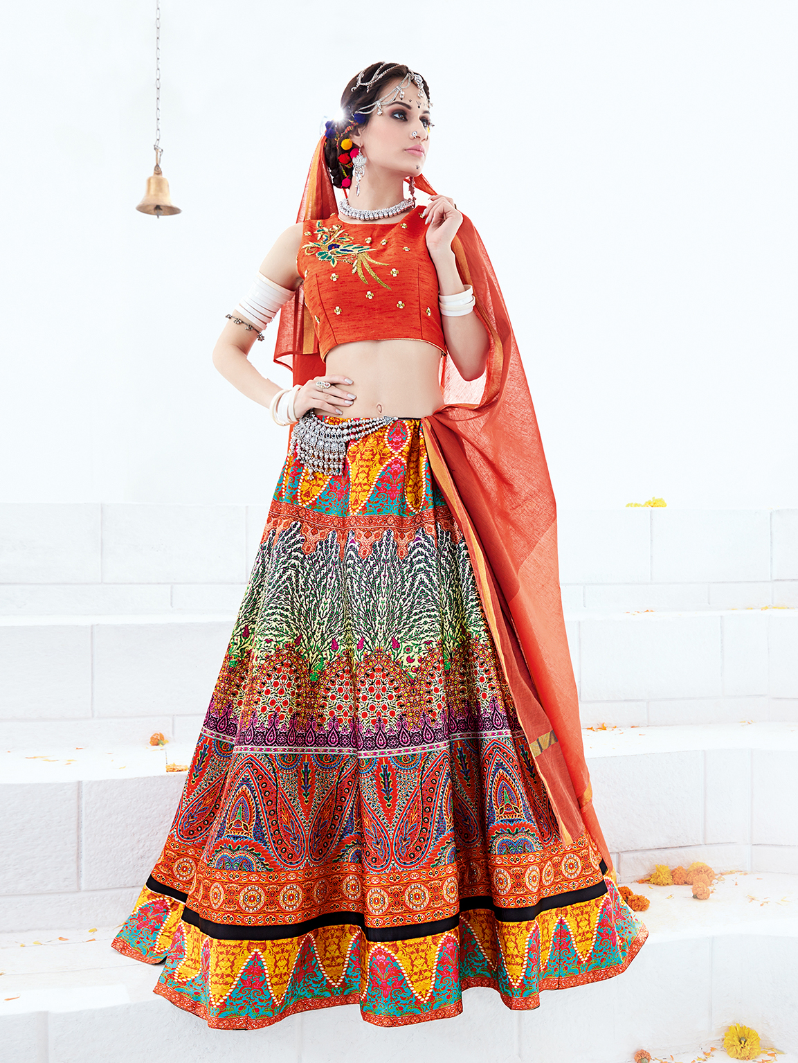 Catalog No.363 – Latest New Digital Printed  Lehenga Choli