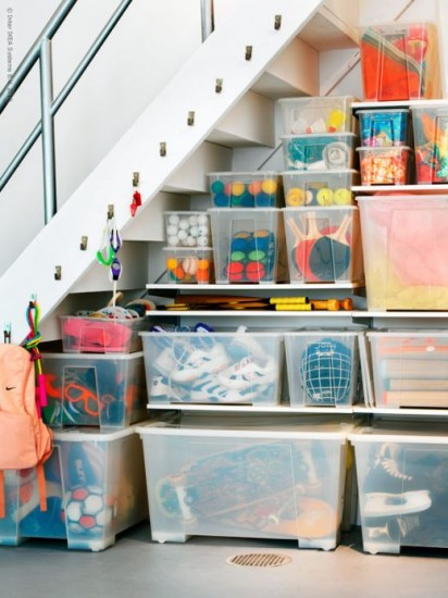 how to organize an under the stairs closet omf to the rescue organizing made fun how to. Black Bedroom Furniture Sets. Home Design Ideas