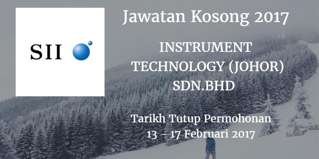 Jawatan Kosong INSTRUMENT TECHNOLOGY (JOHOR) SDN. BHD Februari 2017