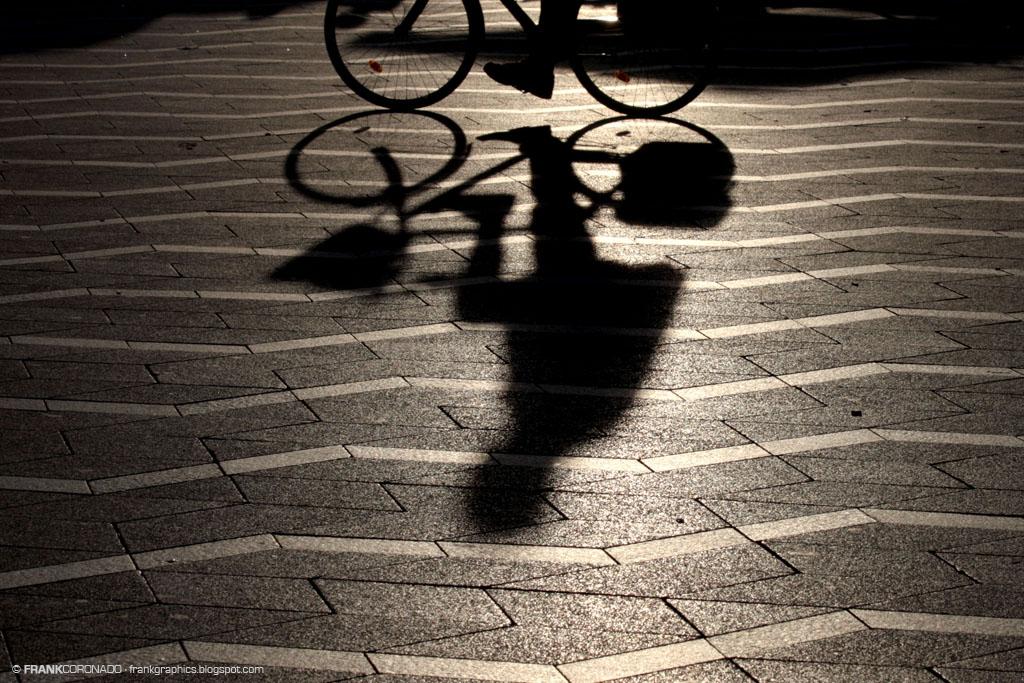 silueta de bicicleta en copenhague