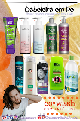 Co Wash com anfótero - Turbinado (Marcas Care Liss, L'Oréal Professionnel, Skafe, Vitiss, Mari Morena, Soul Power, ILike e Salon Embelleze)