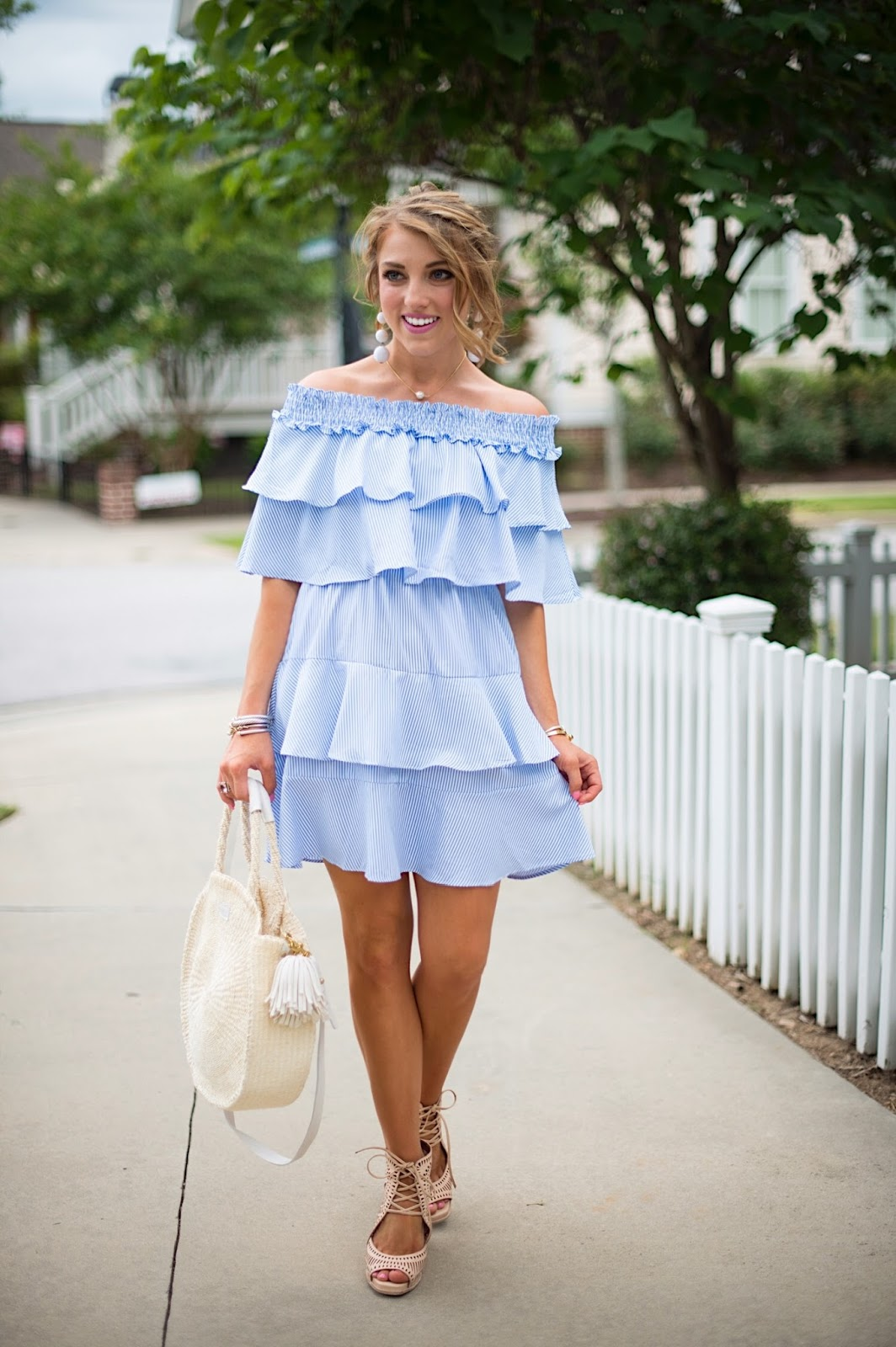 Under $50 Ruffle Dress - Click through to see more on Something Delightful Blog!