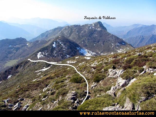 Ruta Requexón Valdunes, la Senda: Bajando de la Senda