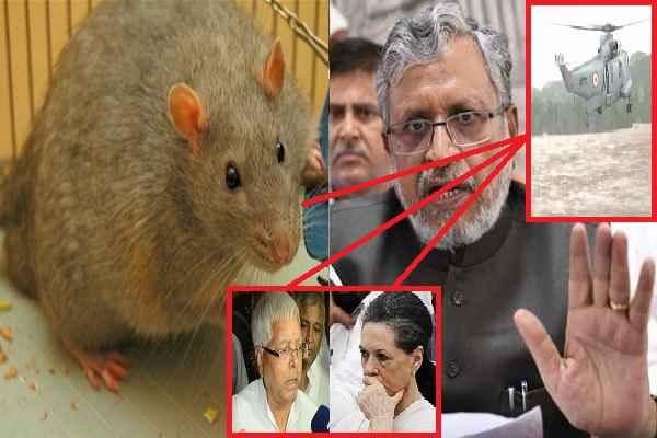 सुशील मोदी बोले, चूहों के अलावा लालू और कांग्रेस भी है बिहार में बाढ़ के लिए जिम्मेदार, क्योंकि.