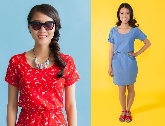 Bettine sewing pattern - easy dress sewing pattern for beginners - Tilly and the Buttons