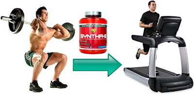 Syntha 6 masa muscular batido antes pesas