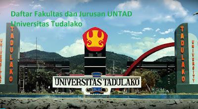 Daftar fakultas, jurusan dan program studi untuk magister, sarjana UNTAD Universitas Tudalako Palu Terbaru