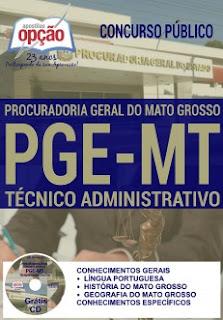 Apostila técnico PGE/MT concurso PGE do Mato Grosso - PGE MT 2016.