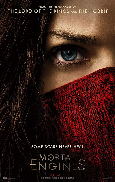 Mortal Engines 2018 movie poster Hera Hilmar Robert Sheehan Hugo Weaving