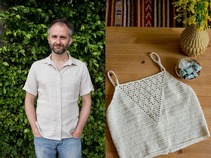 DIY und Nachhaltigkeit | Herrenhemd aus Leinen und Crop Top aus Baumwollgarn