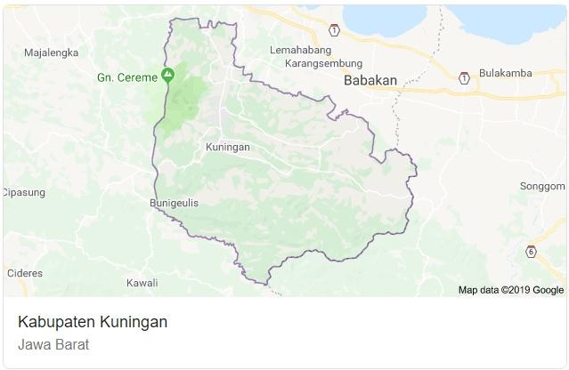 Peta Kabupaten Kuningan Jabar