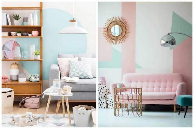 Salon rose et pastel