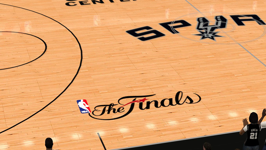 NBA 2K14 Spurs The Finals Court Mod
