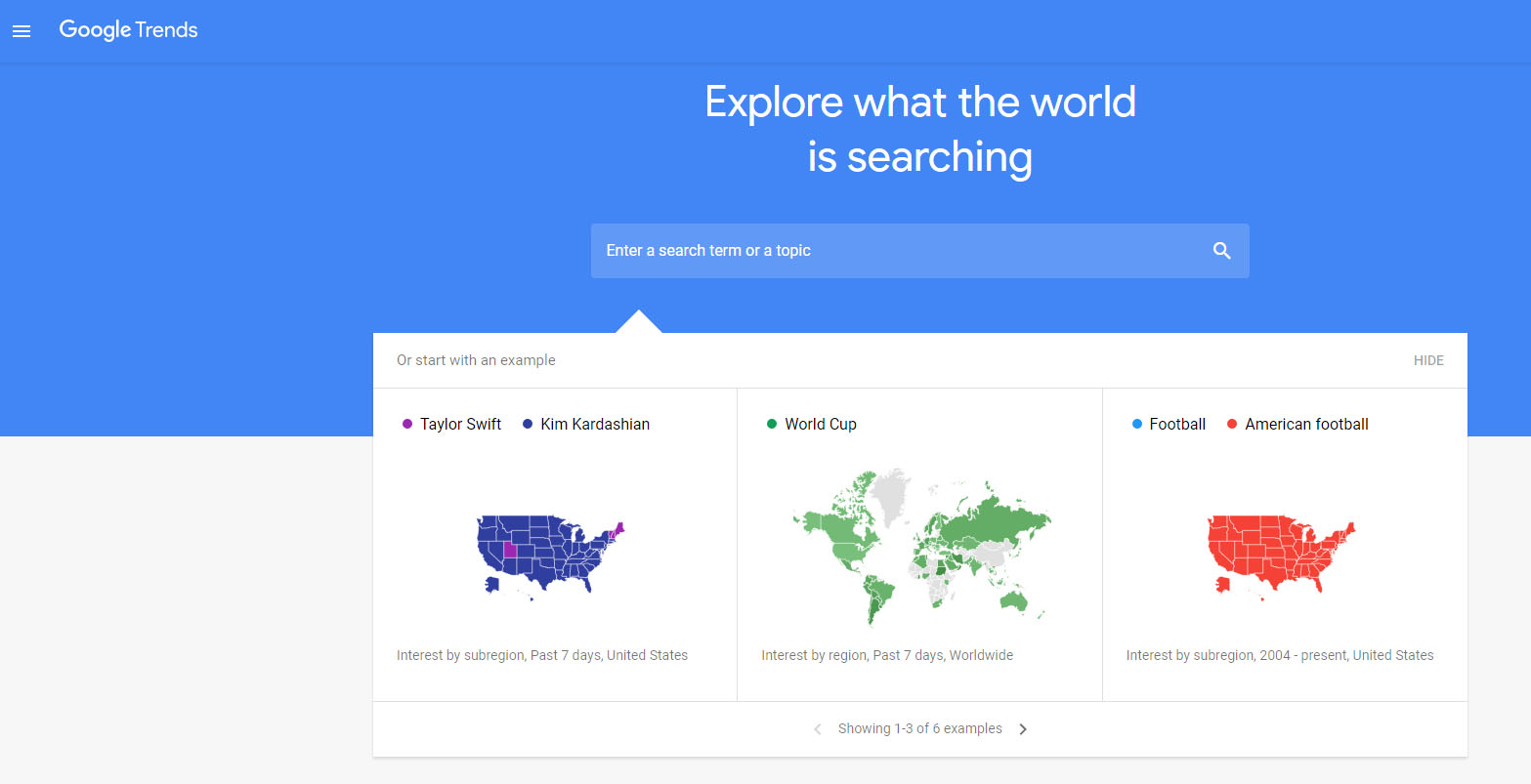discover the latest trend by using free Google Trend tool