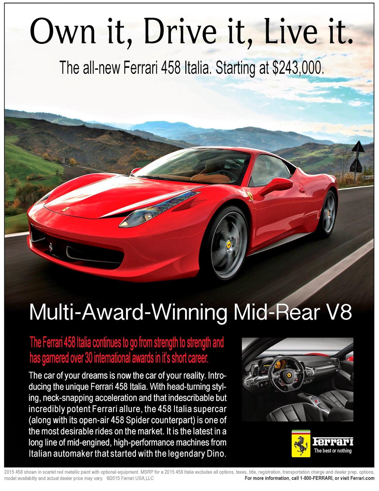 Artwork By Remps Imagination Ferrari 458 Italia Magazine Ad