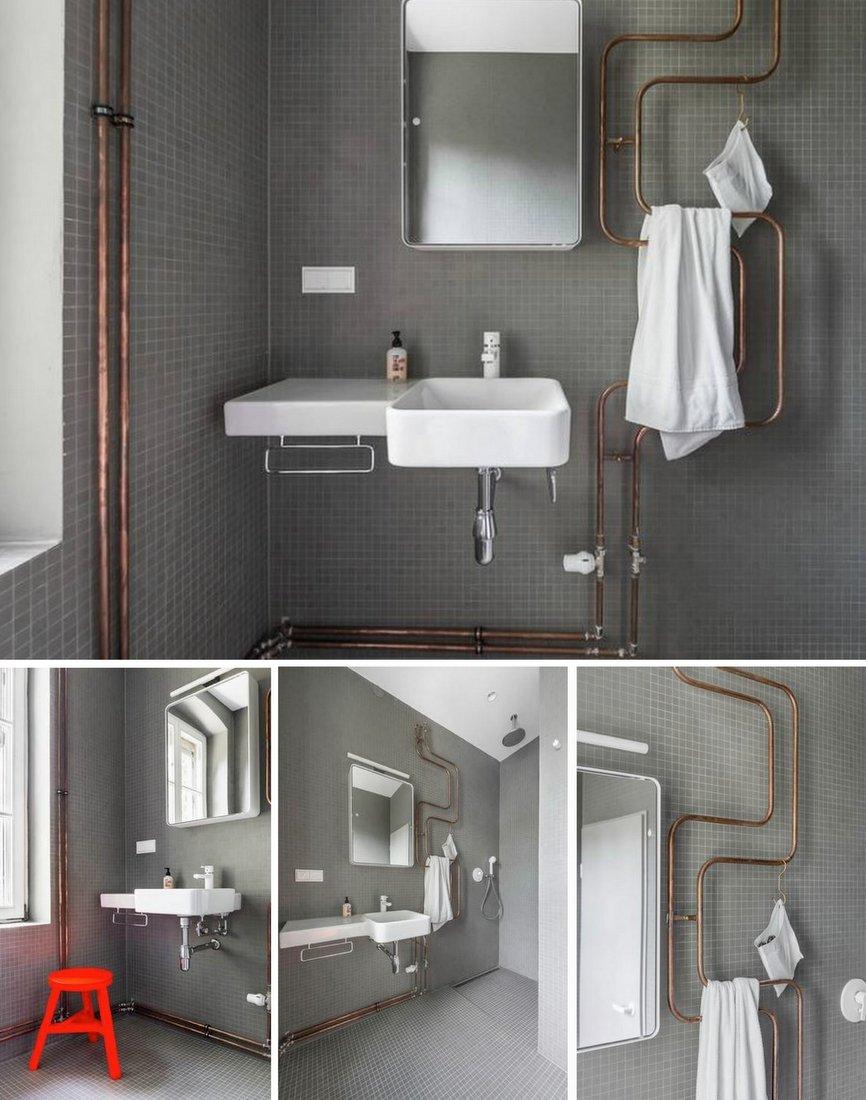 heizungsrohre als designelement christine oertel interior design. Black Bedroom Furniture Sets. Home Design Ideas