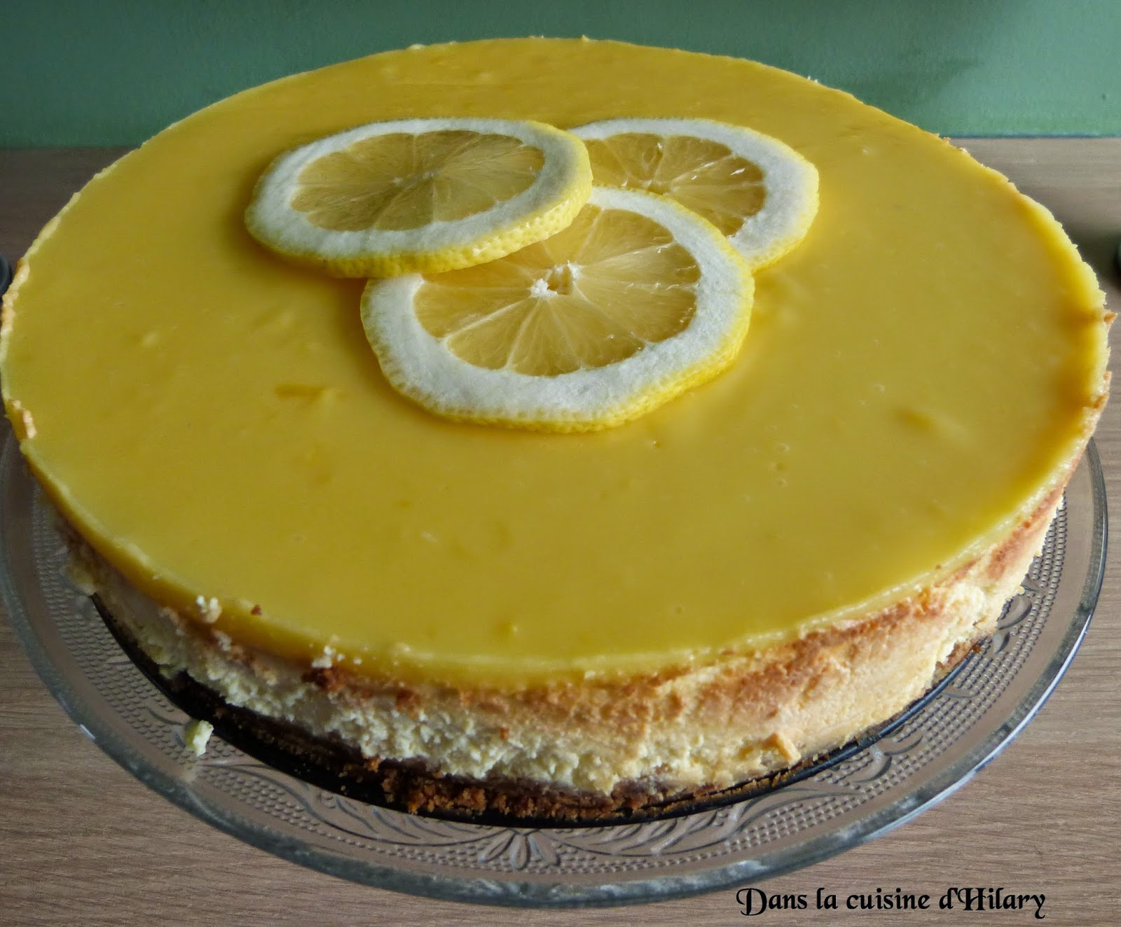Cheesecake New-Yorkais au citron et son miroir au lemon curd