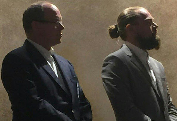 Prince Albert II of Monaco and Leonardo DiCaprio attend the dinner and Auction of The Leonardo DiCaprio Foundation