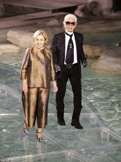 FENDI's 90th Anniversary Show Karl Lagerfeld and Silvia Fendi