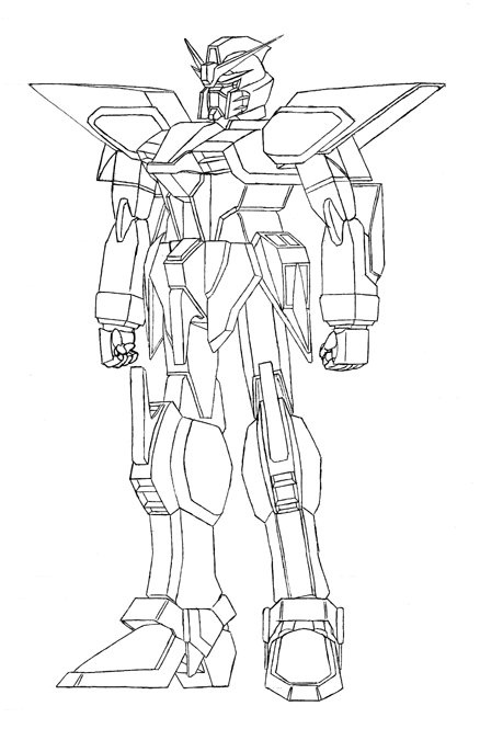 Big Gundam Anime Robot | Learn To Coloring