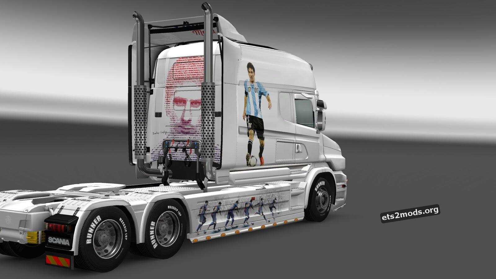 Scania T Leo Messi Skin