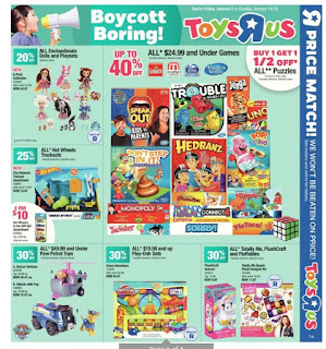 Toys Us Flyer Canada January 05 - 14, 2018