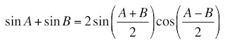 A  triginometric identity relating the sum of two sine waves to the beat frequency.