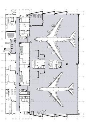 plano de planta aeropuerto