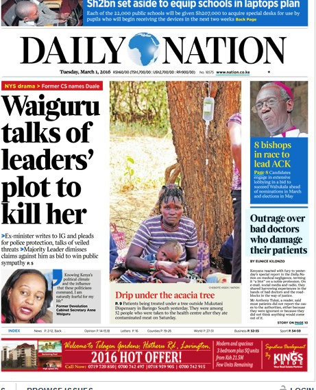 headlines daily nation