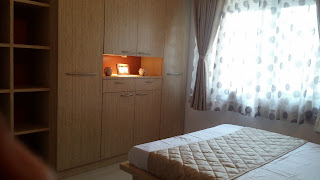 Wardrobe with Book Shelf and space for decorative items with lighting