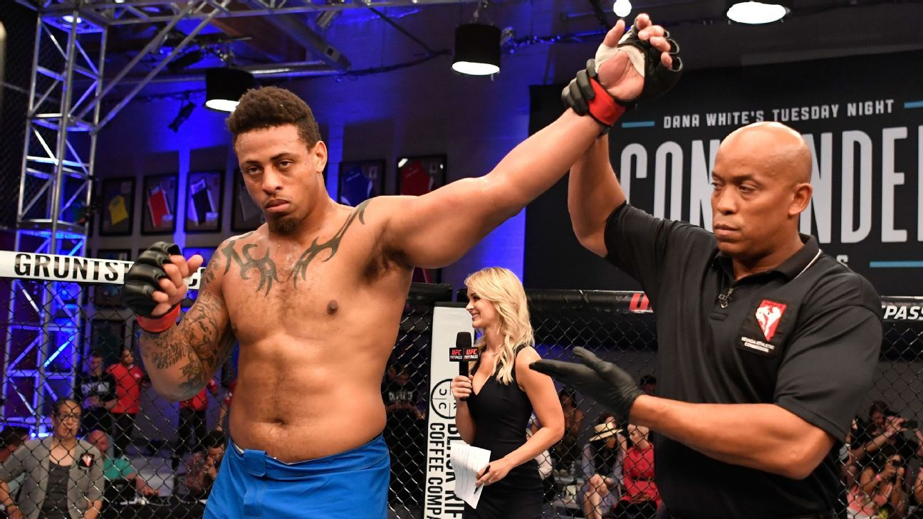 Greg Hardy gets UFC contract following 57-second KO in genius MMA make a big appearance