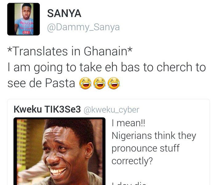 Between a Nigerian and Ghanaian Twitter user