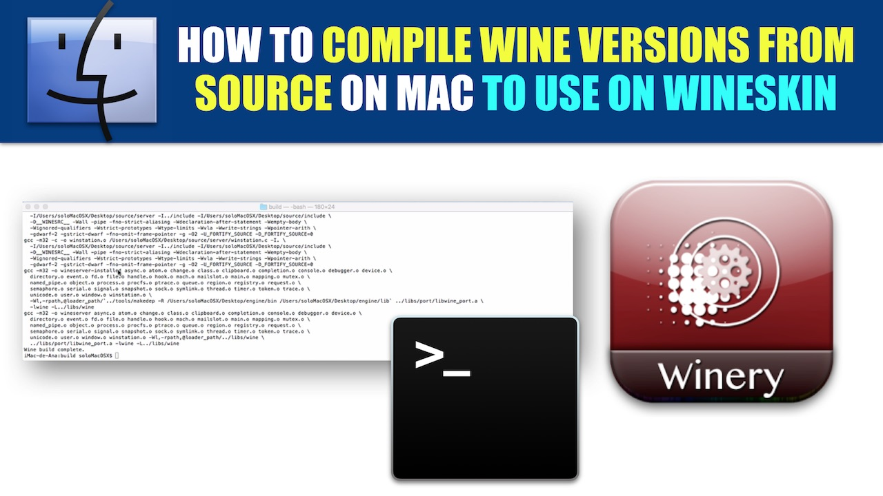 Building wine versions from source on Mac to use on Wineskin