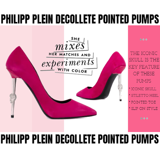 Philipp Plein Decollete Pointed Pumps