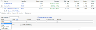 Opciones para incorporar datos de compra en google finance
