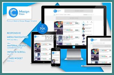 template masign clean premium untuk blogger