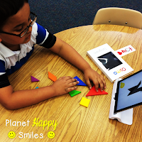 Planet Happy Smiles, Osmo Learning System, Tangrams