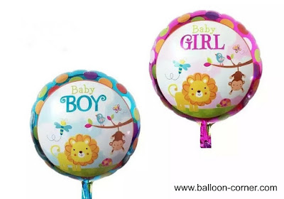 Balon Foil Bulat Baby Boy & Baby Girl