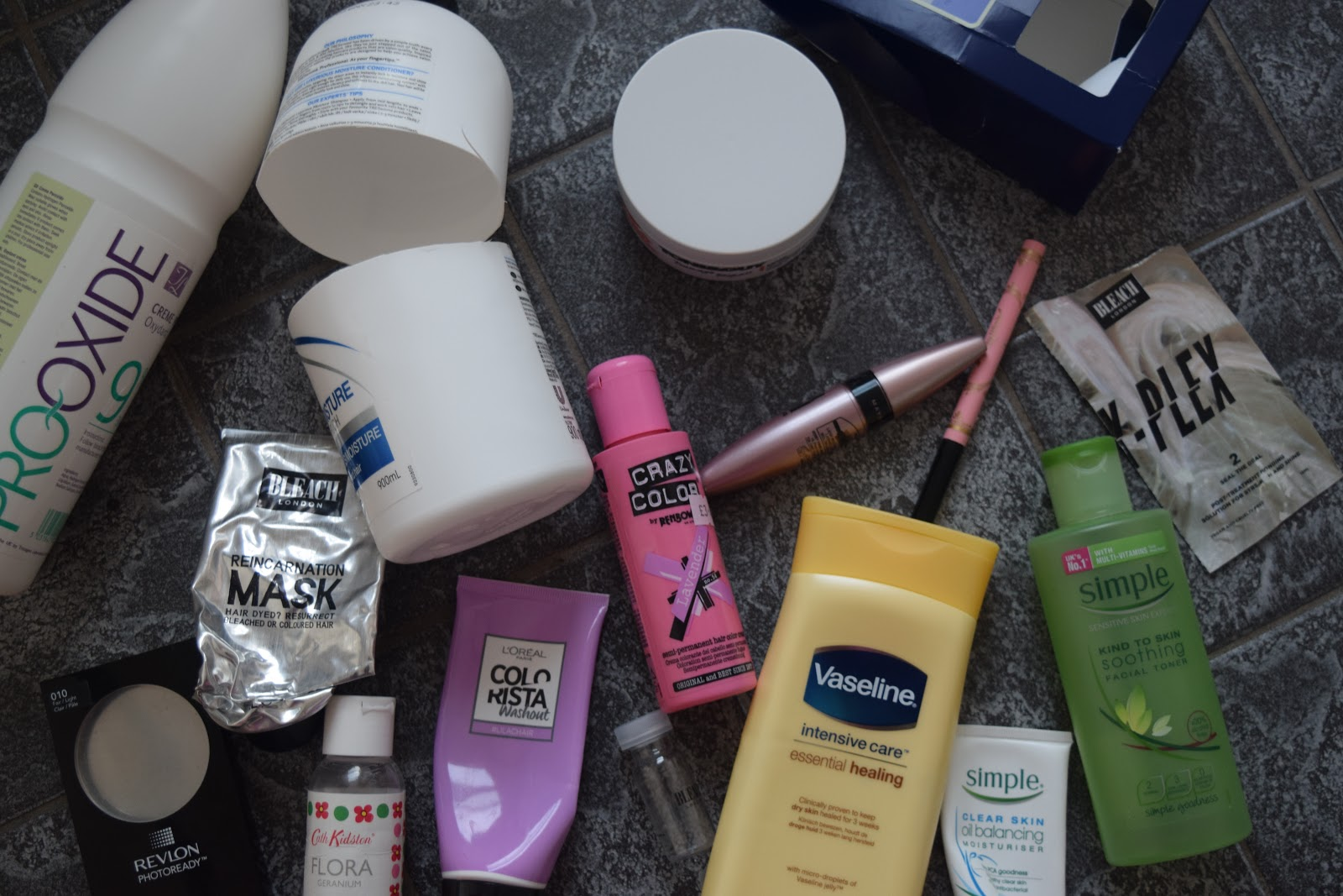empty beauty products