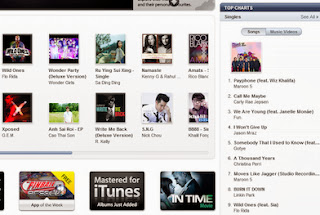 iTunes home page image from Bobby Owsinski's Music 3.0 blog