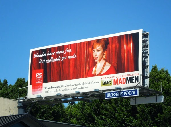 Mad Men vintage style 2014 Emmy billboard