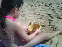 praia, crianças, férias, passeios